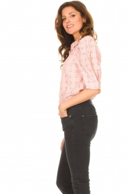 Lolly's Laundry |  Checkered blouse Bono | pink  | Picture 6