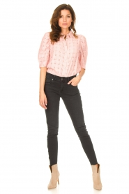 Lolly's Laundry |  Checkered blouse Bono | pink  | Picture 3