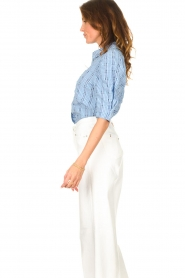 Lolly's Laundry |  Checkered blouse Bono | blue  | Picture 6
