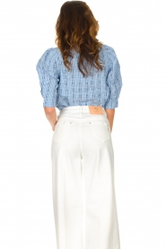 Lolly's Laundry |  Checkered blouse Bono | blue  | Picture 7