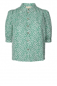 Lolly's Laundry    Cotton blouse with floral print Zoe   green    Picture 1