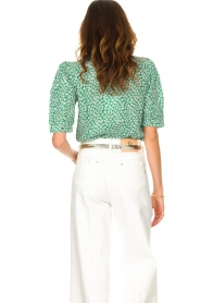 Lolly's Laundry    Cotton blouse with floral print Zoe   green    Picture 7