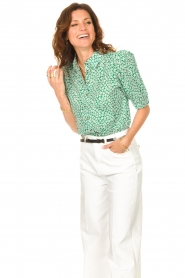 Lolly's Laundry    Cotton blouse with floral print Zoe   green    Picture 4
