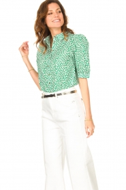 Lolly's Laundry    Cotton blouse with floral print Zoe   green    Picture 5