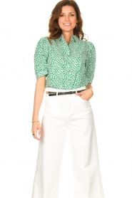Lolly's Laundry    Cotton blouse with floral print Zoe   green    Picture 2