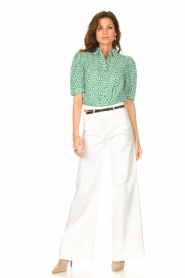 Lolly's Laundry    Cotton blouse with floral print Zoe   green    Picture 3