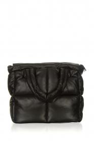 STUDIO AR | Leren puffer tas Medium Isadora | zwart  | Afbeelding 1