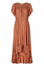 Lolly's Laundry |  Midi dress with dotted print Flora | brown  | Picture 1