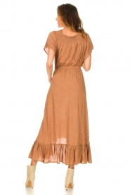 Lolly's Laundry |  Midi dress with dotted print Flora | brown  | Picture 7