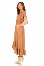 Lolly's Laundry |  Midi dress with dotted print Flora | brown  | Picture 6