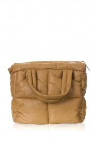 STUDIO AR |  Leather puffer bag Medium Isadora | camel  | Picture 1