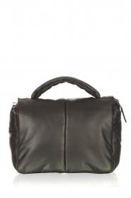 STUDIO AR |   Leather puffer shoulder bag Fiona | black  | Picture 1