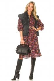 STUDIO AR |   Leather puffer shoulder bag Fiona | black  | Picture 3