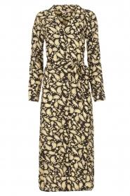 Freebird | Paisleyprint midi-jurk met lurex Vikas | zwart   | Afbeelding 1