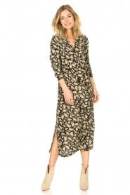 Freebird | Paisleyprint midi-jurk met lurex Vikas | zwart   | Afbeelding 2