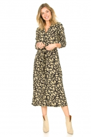 Freebird | Paisleyprint midi-jurk met lurex Vikas | zwart   | Afbeelding 3