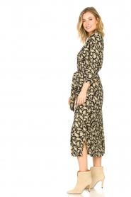 Freebird | Paisleyprint midi-jurk met lurex Vikas | zwart   | Afbeelding 5