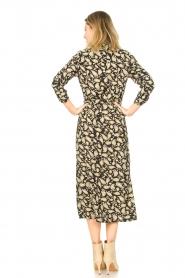 Freebird | Paisleyprint midi-jurk met lurex Vikas | zwart   | Afbeelding 6