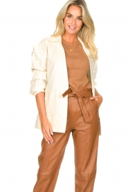 Second Female |  Linen jacket Selene | natural  | Picture 2