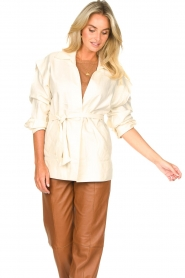 Second Female |  Linen jacket Selene | natural  | Picture 4
