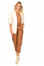 Second Female |  Linen jacket Selene | natural  | Picture 3