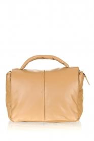STUDIO AR |  Leather puffer shoulder bag Fiona | beige  | Picture 1