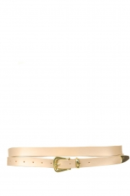 The Kaia    Leather wrap belt Martha   taupe    Picture 1
