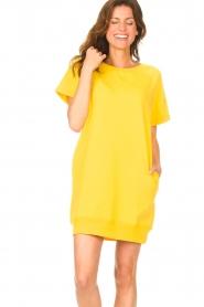 Blaumax | Sweater jurk Queens | geel  | Afbeelding 4