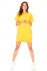 Blaumax | Sweater jurk Queens | geel  | Afbeelding 3