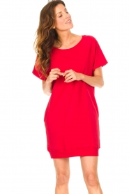 Blaumax    Sweater dress Queens   red    Picture 2