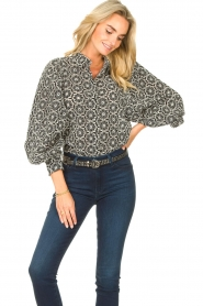 Freebird |  Broderie blouse Kendall | white  | Picture 2