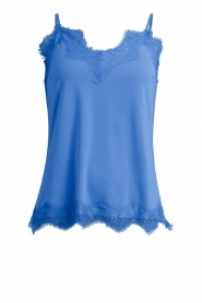 CC Heart |  Top with lace Puck | blue