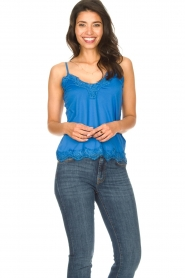 CC Heart |  Top with lace Puck | blue  | Picture 3