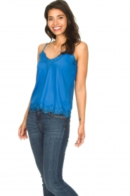CC Heart |  Top with lace Puck | blue  | Picture 2