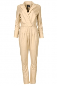 Ibana |  Leather jumpsuit Odel | natural  | Picture 1
