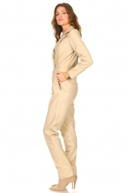 Ibana |  Leather jumpsuit Odel | natural  | Picture 7