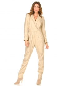 Ibana |  Leather jumpsuit Odel | natural  | Picture 2