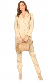 Ibana |  Leather jumpsuit Odel | natural  | Picture 3