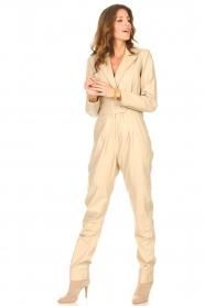 Ibana |  Leather jumpsuit Odel | natural  | Picture 4