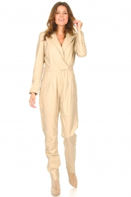 Ibana |  Leather jumpsuit Odel | natural  | Picture 6