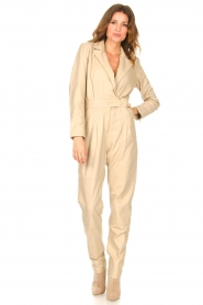 Ibana |  Leather jumpsuit Odel | natural  | Picture 5