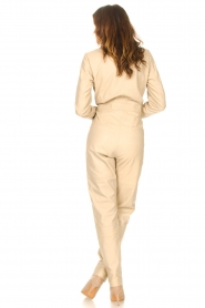 Ibana |  Leather jumpsuit Odel | natural  | Picture 8
