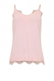 CC Heart |  Top with lace Puck | light pink