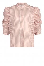 Aaiko | Gestreepte blouse Taciana | roze  | Afbeelding 1