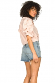 Aaiko | Gestreepte blouse Taciana | roze  | Afbeelding 5
