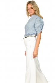 Aaiko |  Striped blouse Taciana | blue  | Picture 5