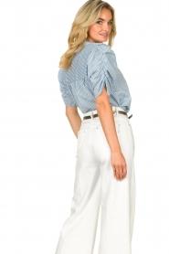 Aaiko |  Striped blouse Taciana | blue  | Picture 6