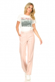 Aaiko |  Wide leg trousers Vantalle | pink  | Picture 2