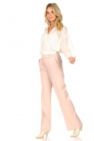 Aaiko |  Wide leg trousers Vantalle | pink  | Picture 3