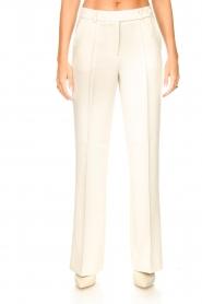 Aaiko |  Wide leg trousers Vantalle | ecru  | Picture 4
